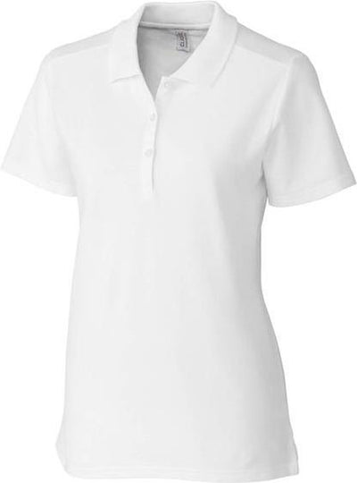 Clique Ladies Addison Polo-XS-White-Thread Logic