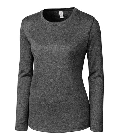 Clique Ladies Charge Active Long SleeveTee-S-Black Heather-Thread Logic