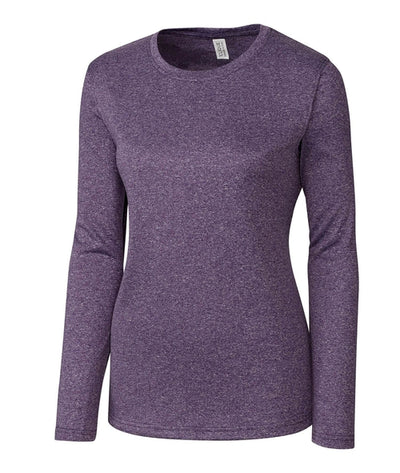 Clique Ladies Charge Active Long SleeveTee-S-College Purple Heather-Thread Logic