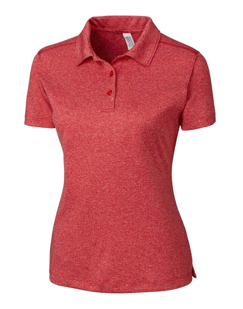Clique Ladies Charge Active Polo-XS-Cardinal Red Heather-Thread Logic