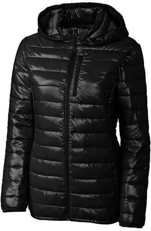 Clique Ladies Stora Puffy Jacket-S-Black-Thread Logic logo-right
