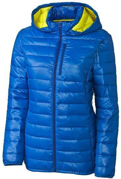 Clique Ladies Stora Puffy Jacket-S-Royal/Visibility Green-Thread Logic
