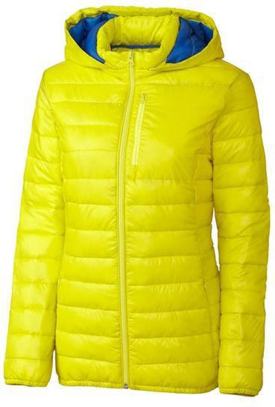 Clique Ladies Stora Puffy Jacket-S-Visibility Green/Royal-Thread Logic