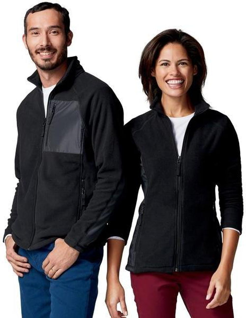 Clique Ladies Summit Microfleece Hybrid Full Zip-S-Black-Thread Logic