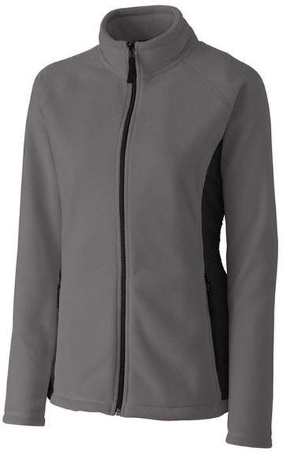 Clique Ladies Summit Microfleece Hybrid Full Zip-S-Charcoal-Thread Logic