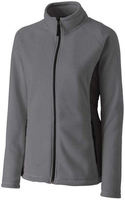 Clique Ladies Summit Microfleece Hybrid Full Zip-S-Grey-Thread Logic