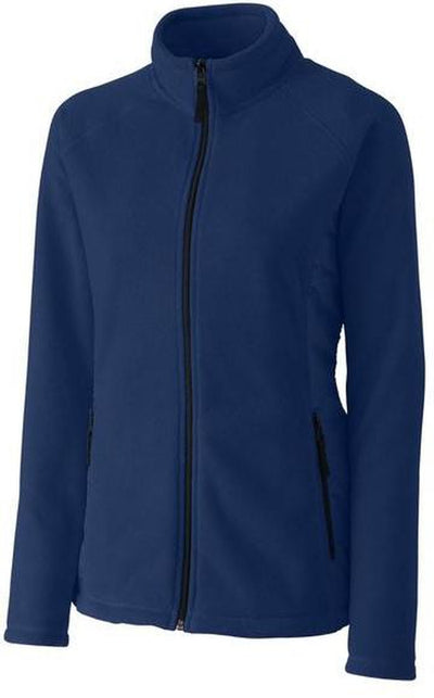 Clique Ladies Summit Microfleece Hybrid Full Zip-S-Navy-Thread Logic