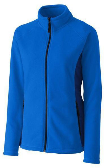 Clique Ladies Summit Microfleece Hybrid Full Zip-S-Royal-Thread Logic