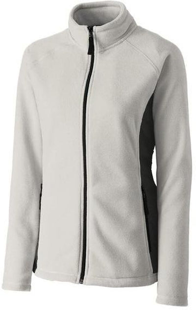 Clique Ladies Summit Microfleece Hybrid Full Zip-S-Silver-Thread Logic