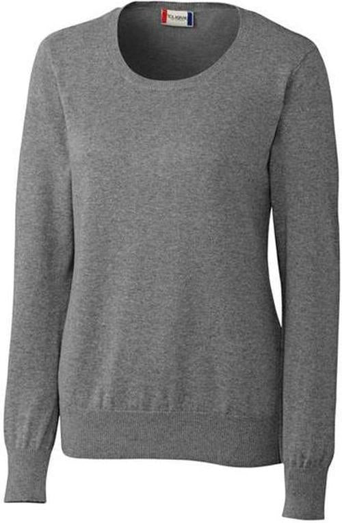 Clique Ladies Imatra Scoop Neck Sweater-XS-Charcoal Melange-Thread Logic
