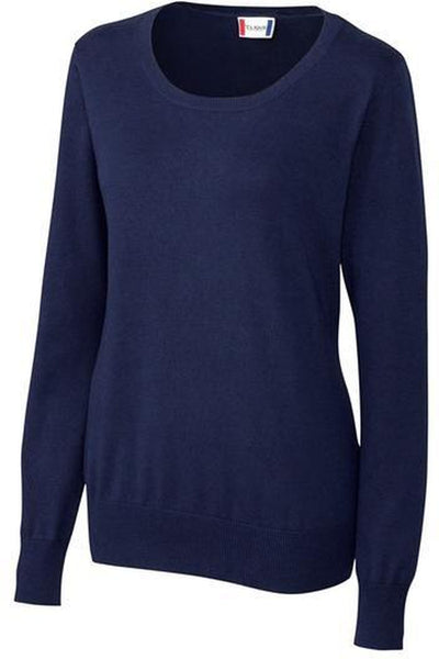 Clique Ladies Imatra Scoop Neck Sweater-XS-Navy-Thread Logic no-logo