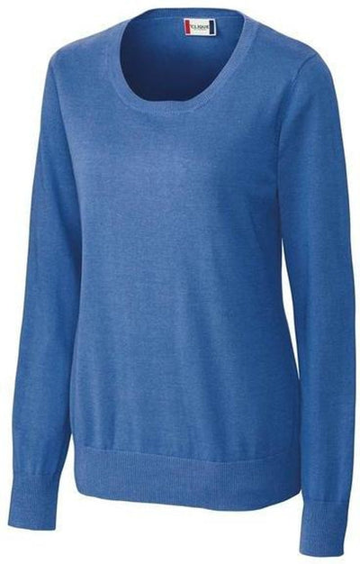 Clique Ladies Imatra Scoop Neck Sweater-XS-Sea Blue-Thread Logic