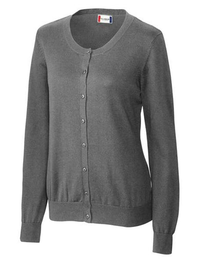 Clique Ladies Imatra Cardigan Sweater-XS-Charcoal Melange-Thread Logic