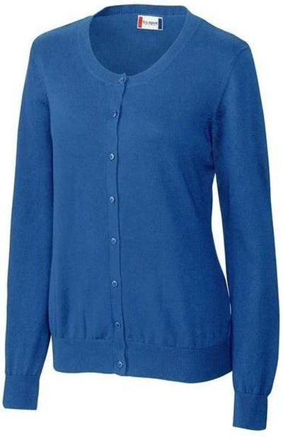 Clique Ladies Imatra Cardigan Sweater-XS-Sea Blue-Thread Logic