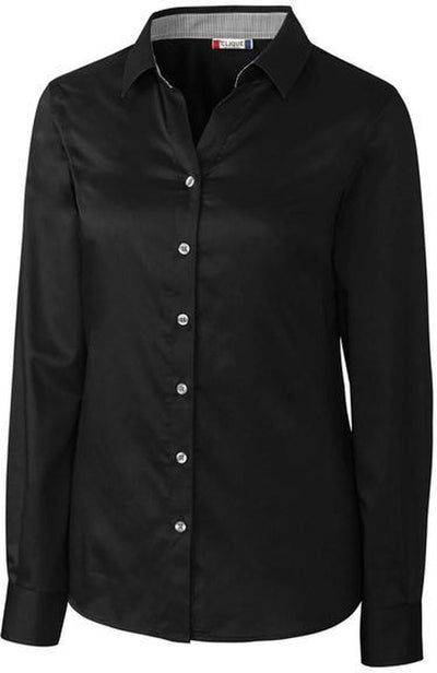 Clique Ladies Halden Stain Resistant L/S-XS-Black-Thread Logic