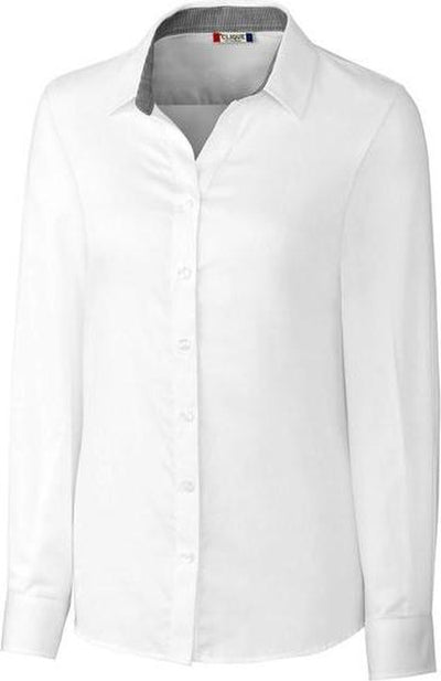 Clique Ladies Halden Stain Resistant L/S-XS-White-Thread Logic
