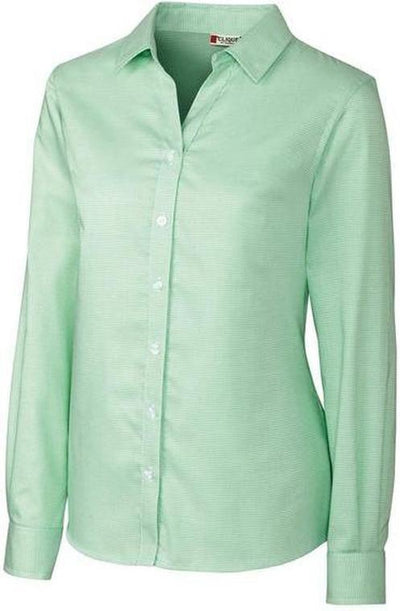 Clique Ladies Stain Resistant Houndstooth-XS-Sea Green/White-Thread Logic