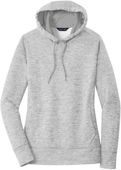 Sport Tek-Ladies PosiCharge Electric Heather Fleece Hooded Pullover-XS-Silver Electric-Thread Logic