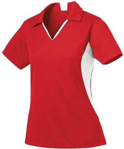 Sport Tek-Ladies Side Blocked Micropique Polo-XS-Red-Thread Logic