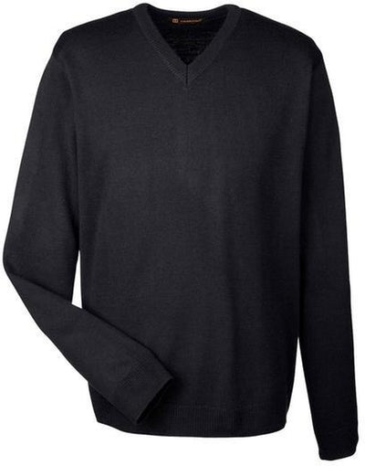 Harriton-Pilbloc V-Neck Sweater-S-Black-Thread Logic