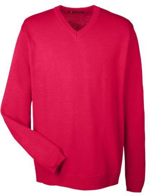 Harriton-Pilbloc V-Neck Sweater-S-Red-Thread Logic