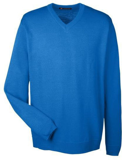 Harriton-Pilbloc V-Neck Sweater-S-True Royal-Thread Logic