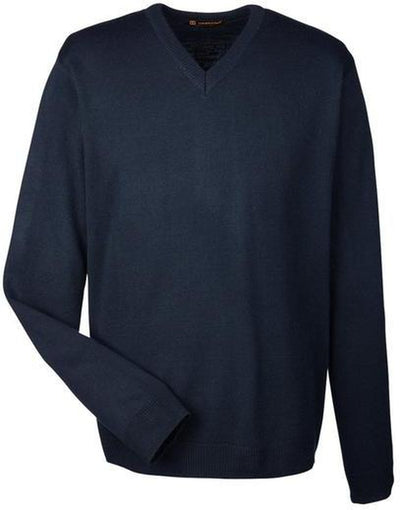 Harriton-Pilbloc V-Neck Sweater-S-Dark Navy-Thread Logic