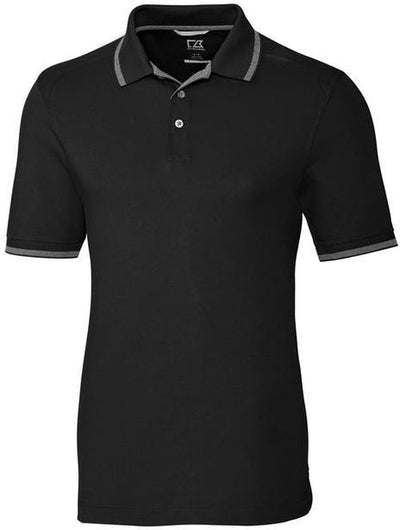 Cutter&Buck Advantage Tipped Polo-S-Black-Thread Logic