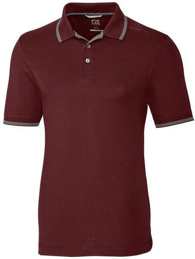 Cutter&Buck Advantage Tipped Polo-S-Burgundy-Thread Logic