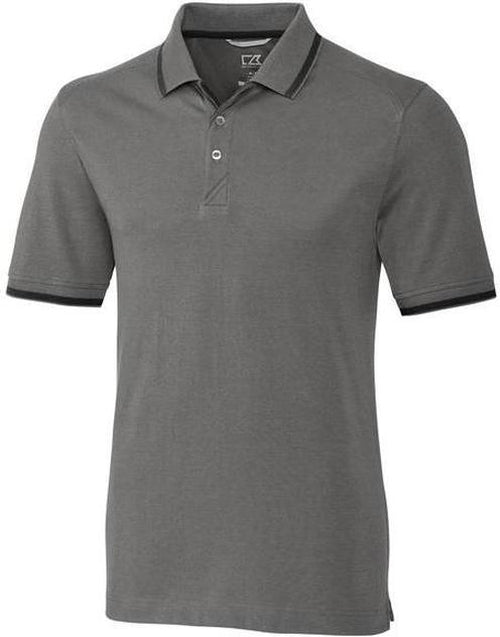 Cutter&Buck Advantage Tipped Polo-S-Elemental Grey-Thread Logic