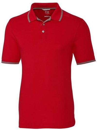 Cutter&Buck Advantage Tipped Polo-S-Red-Thread Logic