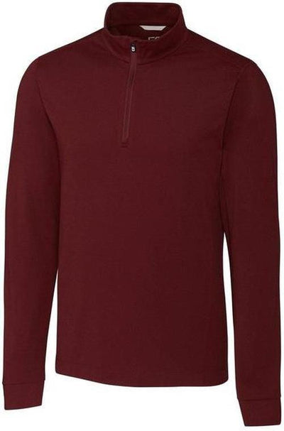 Cutter&Buck Advantage Zip Mock-S-Bordeaux-Thread Logic