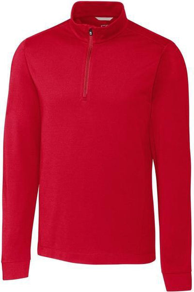 Cutter&Buck Advantage Zip Mock-S-Cardinal Red-Thread Logic