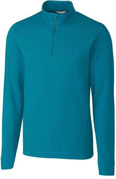 Cutter&Buck Advantage Zip Mock-S-Teal Blue-Thread Logic