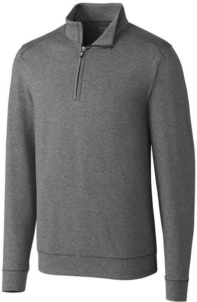 Cutter&Buck Shoreline Half Zip-S-Charcoal Heather-Thread Logic