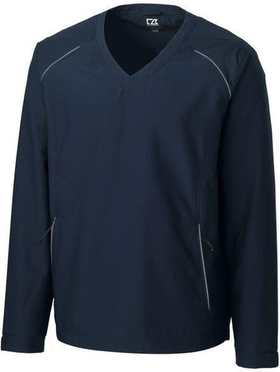Cutter&Buck WeatherTec V-neck Jacket-S-Navy-Thread Logic