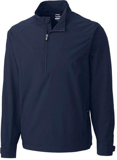 Cutter&Buck WeatherTec Summit Half Zip-S-Navy-Thread Logic