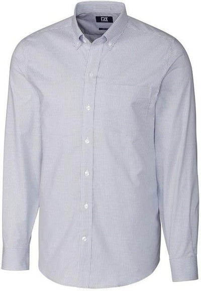 Cutter&Buck L/S Tailored Fit Stretch Oxford Stripe-S-Light Blue-Thread Logic