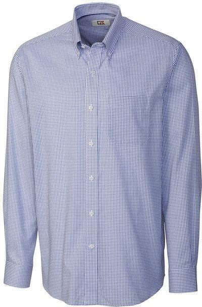 Cutter&Buck L/S Epic Easy Care Tattersall-S-French Blue-Thread Logic