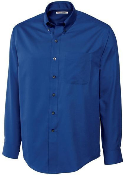 Cutter&Buck L/S Epic Easy Care Fine Twill-S-French Blue-Thread Logic