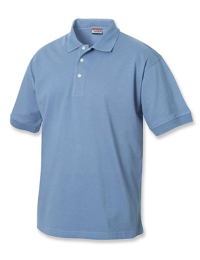 Clique Lincoln Pique Polo-S-Light Blue-Thread Logic