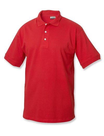 Clique Lincoln Pique Polo-S-Red-Thread Logic