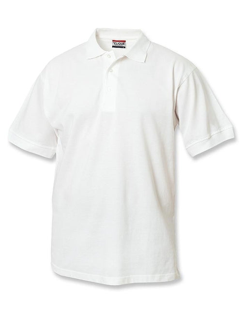 Clique Lincoln Pique Polo-S-White-Thread Logic