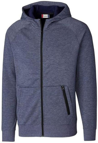 Clique Lund Fleece Zip Hoodie-S-Navy-Thread Logic