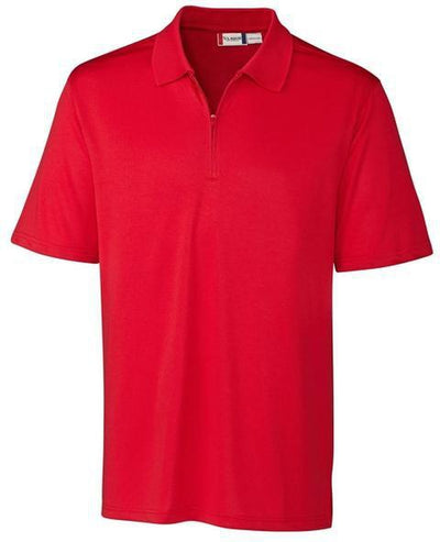 Clique Malmo Snag Proof Zip Polo-S-Red-Thread Logic