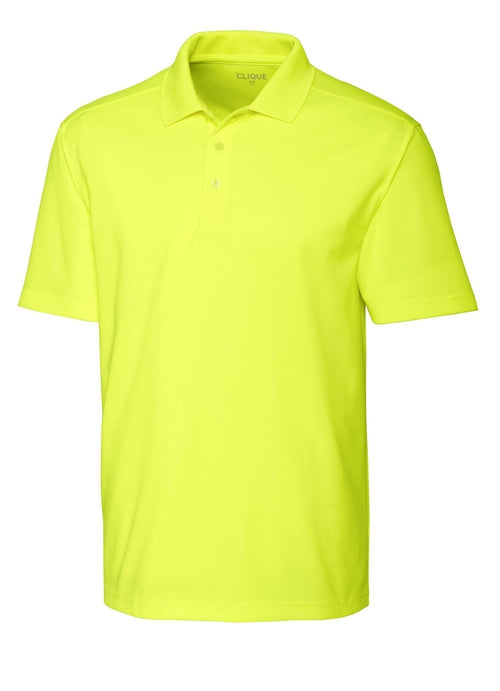 Clique Spin Pique Polo-S-HiVis Yellow-Thread Logic