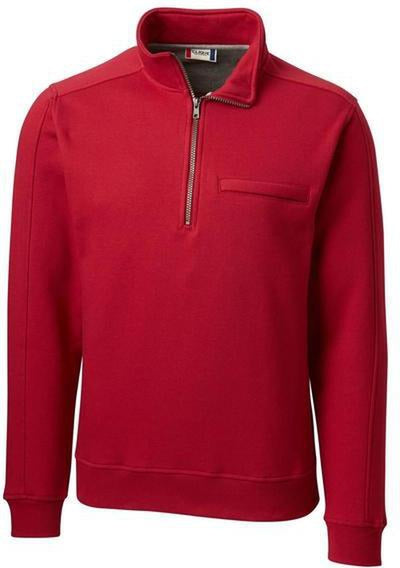 Clique Cadiz Half Zip-S-Darkest Red-Thread Logic