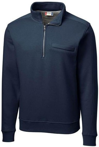 Clique Cadiz Half Zip-S-Dark Navy-Thread Logic