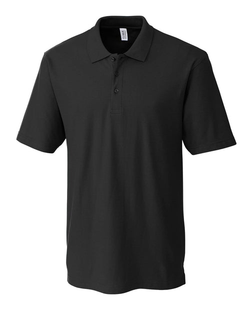 Clique Addison Polo-S-Black-Thread Logic