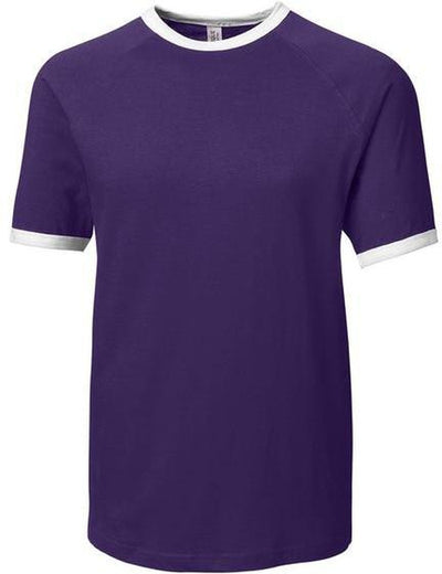 College Purple Clique Playlist Ringer Tee